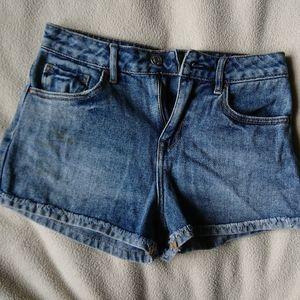 High rise pacsun denim shorty shorts